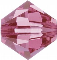 6mm SWAROVSKI® ELEMENTS Rose Xilion Beads - 25 crystals for jewellery making, beadwork and craft